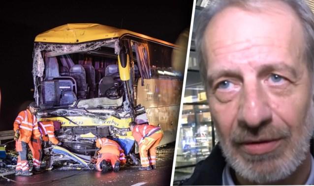 """Passagier van gecrashte bus: """"Het was voorbij in één of twee seconden, gordels hebben veel erger voorkomen"""""""