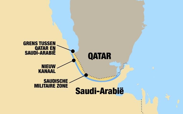 Een kanaal, een militaire basis en een kernstort: Saudi-Arabië dreigt ermee van Qatar een eiland te maken