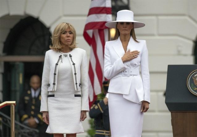 """Franse first lady bezorgd om Melania Trump: """"Ze zit gevangen, ze mag niet eens buiten"""""""