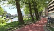 Daar is de volgende fietsstraat al in Gent, dit keer wel in de juiste kleur