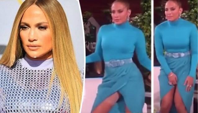 "Oepsmomentje voor Jennifer Lopez: ""O nee, mijn Spanx!"""