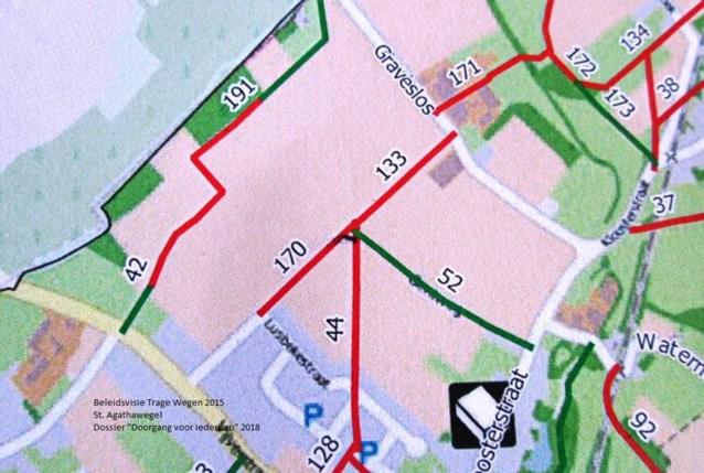 Werkgroep Trage Wegen Oosterzele wil dat gemeentebestuur Sint Agathawegel openstelt