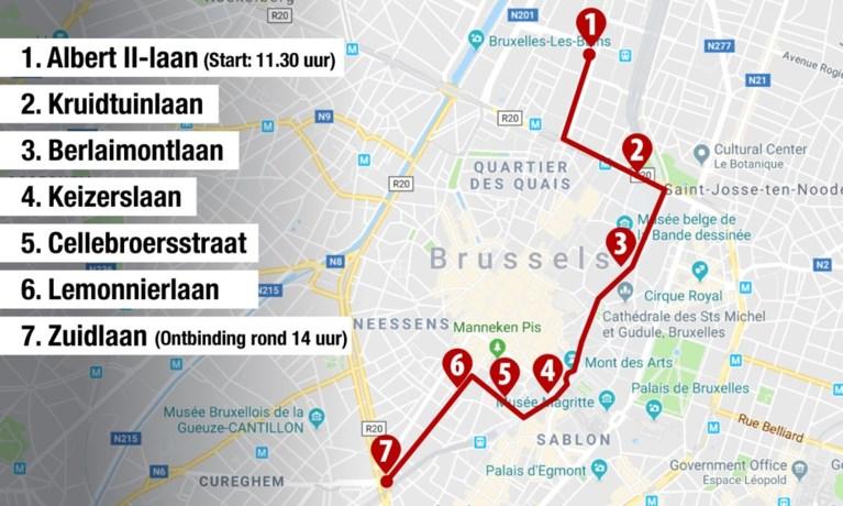 """OVERZICHT. """"Minstens 55.000 betogers in Brussel"""" - Hier ondervindt u hinder"""