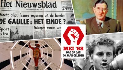 Het Nieuwsblad van mei '68: waarom de studentenleider zijn haar zwart verft