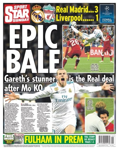 Buitenlandse pers prijst matchwinnaar Bale de hemel in, flaterende Karius krijgt ervan langs