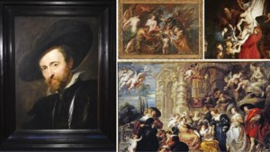 We maken een portret van Rubens, maar omdat we zelf niet kunnen schilderen, gebruiken we zijn schilderijen