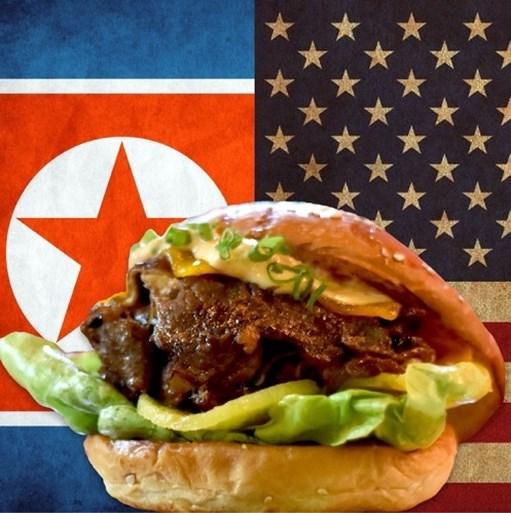 De top moet nog plaatsvinden, maar er is nu al een speciale burger voor de ontmoeting tussen Trump en Kim Jong-un