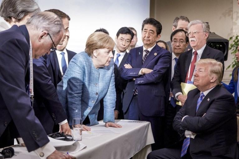 """Trump tekent slotverklaring G7 dan toch niet: """"Trudeau is oneerlijk en zwak"""""""