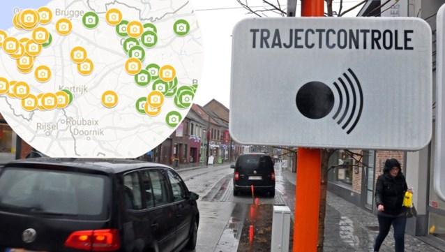 KAART. Trajectcontroles doen zware ongevallen met de helft afnemen: hier komen er 69 nieuwe