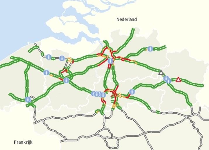 """""""Uitzonderlijk"""" veel file in Vlaanderen, nu al effect van Rode Duivels?"""