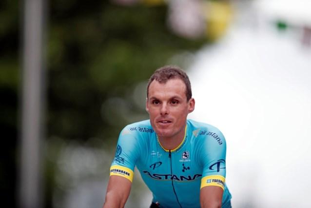 Luis Leon Sanchez (Astana) verlaat Tour met elleboogbreuk
