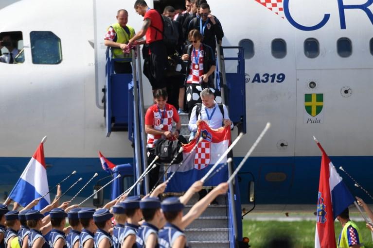 Modric en co. zijn geland, ook de Kroaten krijgen in Zagreb een heus volksfeest als huldiging
