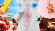 IJs, zonnecrème en zweet: zo krijg je de vlekken van de zomer weer uit je kleren