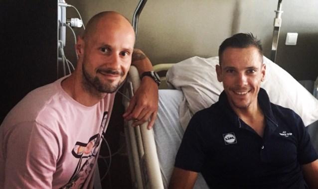 Philippe Gilbert krijgt na zware val bezoek van Tom Boonen