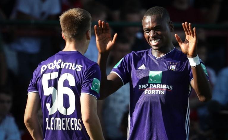 Vernieuwd Anderlecht geeft visitekaartje af op veld KV Kortrijk, Santini scoort meteen hattrick