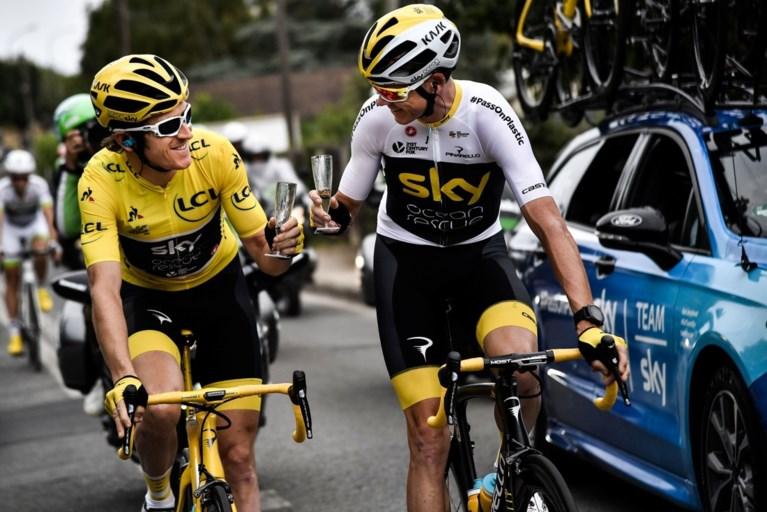 Team Sky viert Tourwinst van Thomas met champagne en … gepersonaliseerde sportwagen