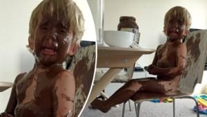 Wat er gebeurt wanneer een mama een grote fan (3) van Nutella even alleen achterlaat