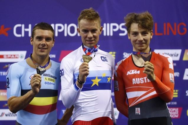 Kenny De Ketele bezorgt België zilveren medaille in puntenkoers op EK baanwielrennen in Glasgow