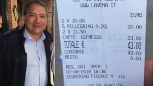 """Toerist krijgt rekening van 43 euro voor 2 kopjes koffie en 2 watertjes: """"Dit is diefstal"""""""