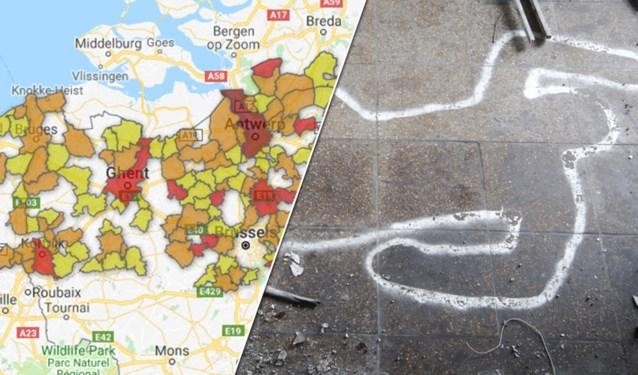 2017 was een erg dodelijk jaar: in deze gemeentes vonden het vaakst moord en doodslag plaats