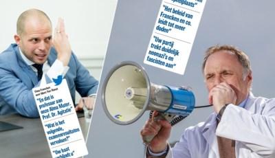 """Twitteroorlog tussen Theo Francken en Marc Van Ranst escaleert: """"Hij vervalst Facebook-posts"""" versus """"Hij trekt mijn integriteit in twijfel"""""""