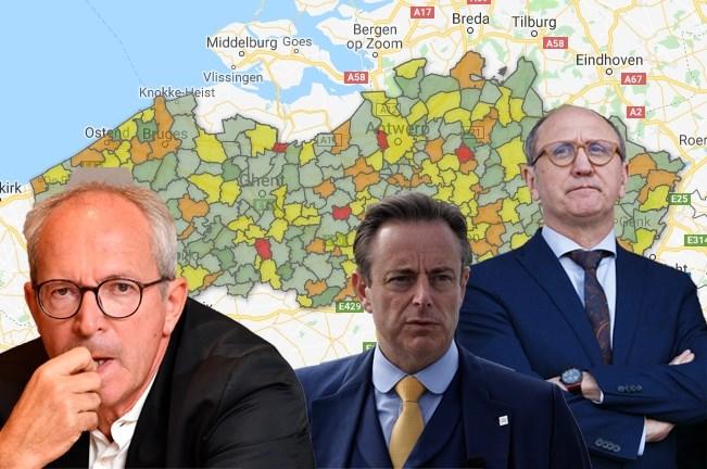 Rode en groene burgemeesters scoren slecht, ook De Wever krijgt geen goed rapport