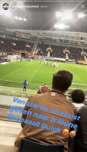 """Malaise bij AA Gent: Limbombe baalt als een stekker op de tribune, Verstraete sakkert over """"kinderlijk"""" spel"""