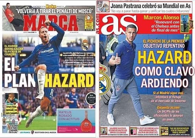 """Spaanse kranten én ploegmaat zijn er zeker van: """"Real Madrid heeft een Plan Eden Hazard"""""""