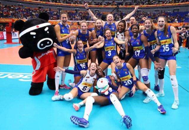 Italië en Servië spelen de finale van het WK volleybal voor vrouwen