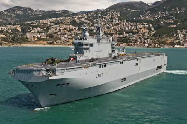 Vier gewonden bij helikoptercrash op Frans marineschip