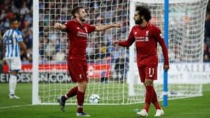 Liverpool mee op kop naast City na krappe zege tegen Huddersfield