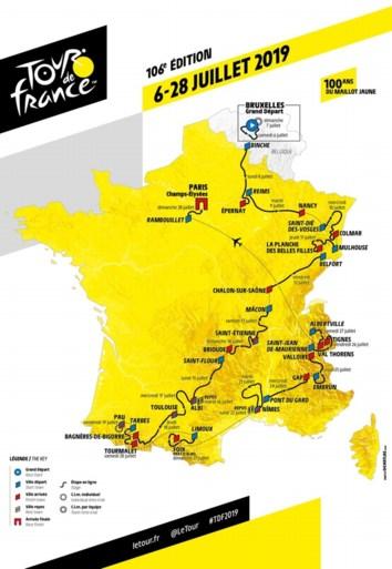 Parcours Tour de France 2019: starten in Brussel, daarna zijn de klimmers aan zet in loodzware editie
