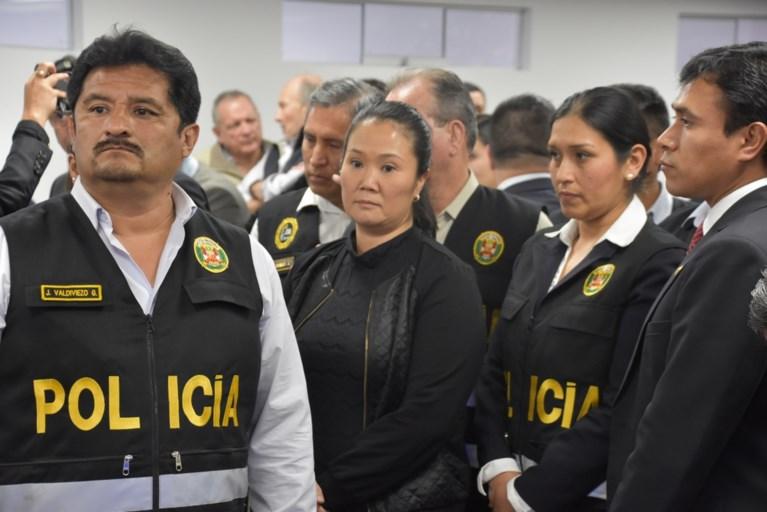 Peruaanse oppositieleidster Keiko Fujimori 36 maanden in voorlopige hechtenis