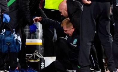 Schotse derby ontaardt compleet: doelman neergeslagen en provocerende trainer geveld door muntstuk