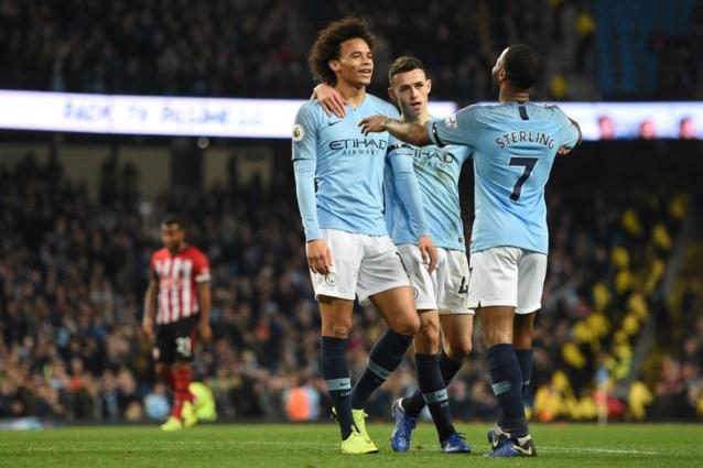 Manchester City swingt ook zonder De Bruyne en scoort zes keer