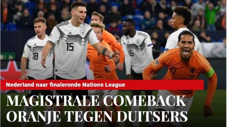 """Nederlandse pers lyrisch na sensationele kwalificatie: """"Terug aan de top, dit vinden de Duitsers niet lekker"""""""