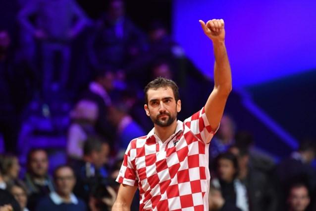 Kroatië staat in finale Davis Cup op 2-0 voorsprong tegen titelhouder Frankrijk