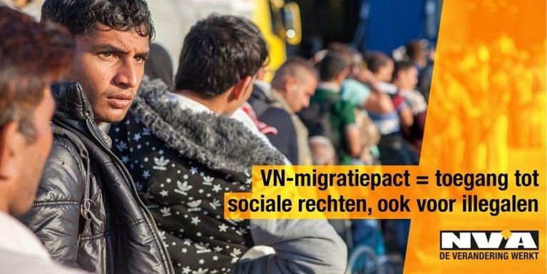 Vlaams Belang kopieert verwijderde N-VA-campagne