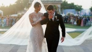 Priyanka Chopra trouwde in jurk waar 1.826 uur werk in kroop