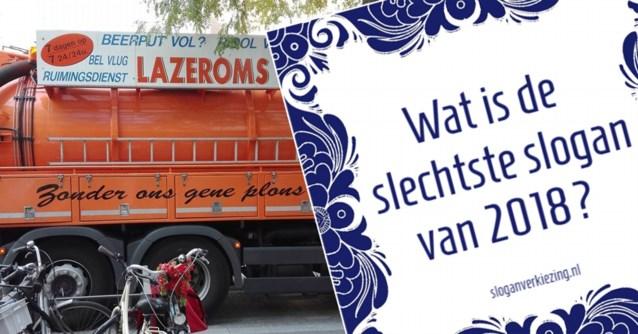 Vlaams bedrijf maakt kans op titel van 'slechtste reclameslogan van het jaar'