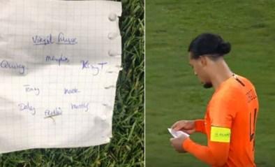 Legendarisch spiekbriefje van Oranje levert 35.000 euro op