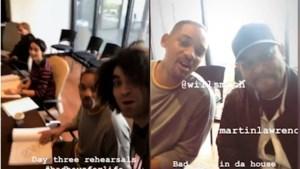 Adil en Bilall dollen met Will Smith tijdens repetitie 'Bad Boys for Lif3'