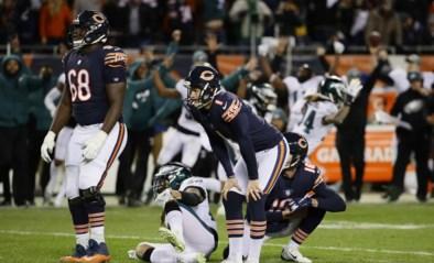 Drama in American Football: favoriet Chicago uitgeschakeld na beslissende kick op paal én lat...
