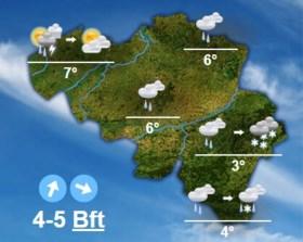 KMI meldt: zondag opnieuw kans sneeuw, polaire lucht vanaf maandag
