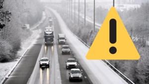 Opnieuw sneeuwzone onderweg: Wegen en Verkeer waarschuwt voor gladde wegen, code geel in hele land