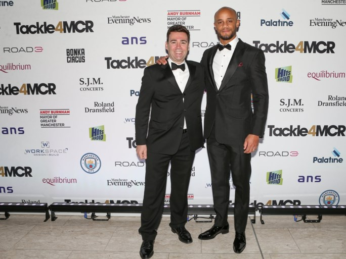 Chique volk op liefdadigheidsdiner Vincent Kompany: trainers van Manchester City én United, maar ook Noel Gallagher (Oasis)