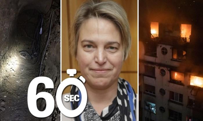 Mee in één minuut: Schauvliege stapt op, beelden van tunnels bankroof en zware tol na appartementsbrand