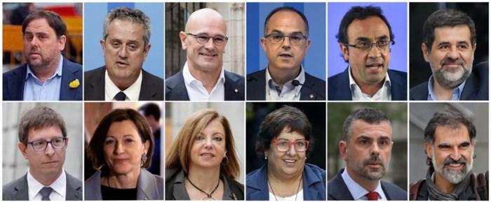 Proces tegen twaalf Catalaanse politici die rol speelden bij onafhankelijkheidsreferendum van start: samen riskeren ze 117 jaar cel