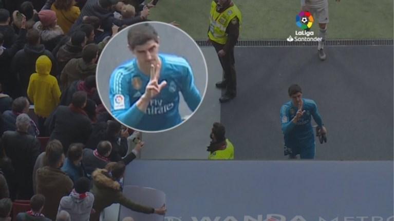 Fans van Atletico Madrid willen gedenkplaat Courtois laten verwijderen wegens een gebrek aan respect