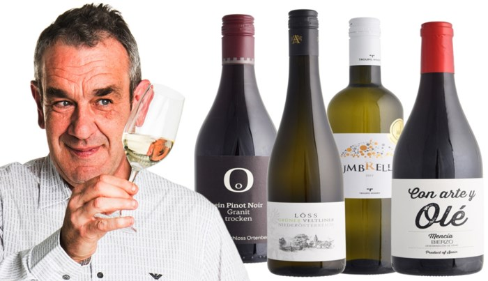 Onze wijnkenner Alain Bloeykens proeft vier nieuwe lentewijnen uit Duitsland, Oostenrijk, Griekenland en Spanje